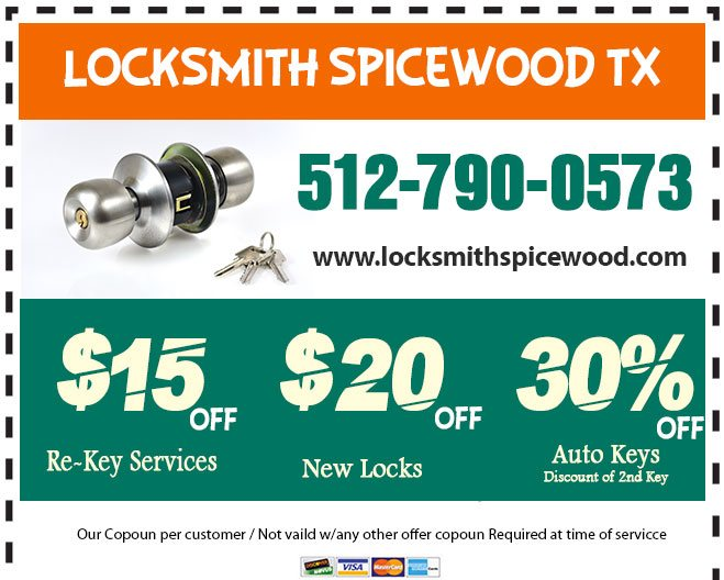 Locksmith Spicewood TX Coupon